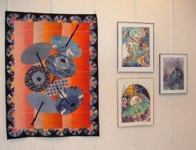 Another eye-catching quilt and more fascinating water colors.