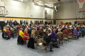 More than 200 people attended the Lee County taxpayer forum Tuesday night.