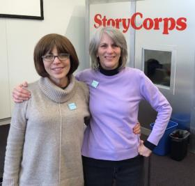Amy Stein (left) and Mary Eby