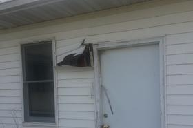 An indirect lightning strike damaged the Lee County Conservation Office over the weekend.