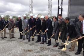 Governor Pat Quinn and others break ground on $30 million cold storage facility