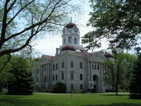 The Hancock County Courthouse in Carthage. Berg's office is on the third floor of the building.
