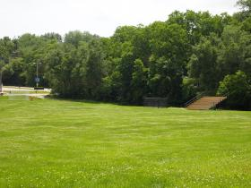 Area adjacent to Corbin/Olson Halls where new parking lot will be built.