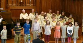 Photo from last year's Youth Sunday at First Presbyterian Church