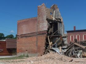 The building collapsed on July 31, 2009. No one was in the building at the time and no injuries were reported.