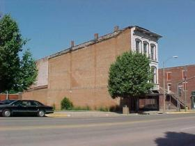 The three-story building at 528 Main Street in downtown Keokuk as it stood for more than 150 years.