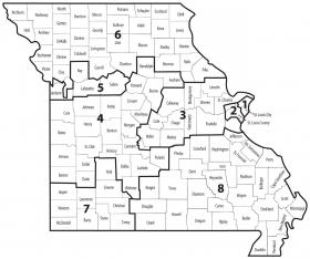 The 6th Congressional District includes 36 counties.