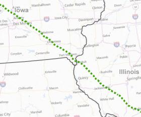 The local portion of a proposed pipeline from North Dakota to west-central Illinois.