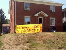 A sign that was on display during the 2012 move-in day.