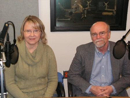 Program Dir. Kim Lampitt and board member Dan Yoder