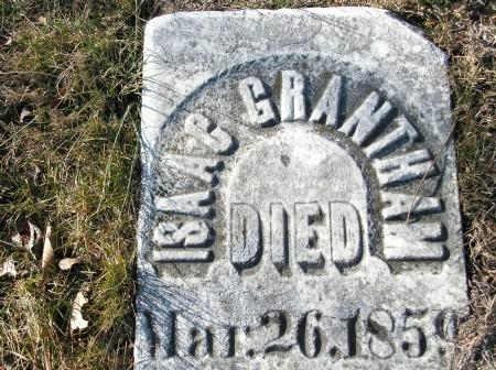 A fallen headstone at the Old Macomb Cemetery