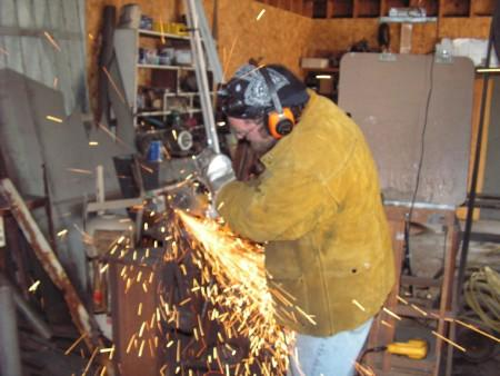 Matt Myers at work in his studio