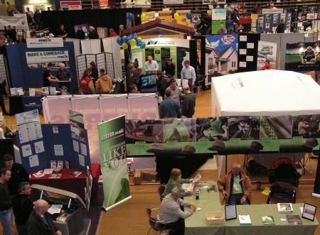 A patchwork of vendors at the 42nd Annual Ag-Mech Show