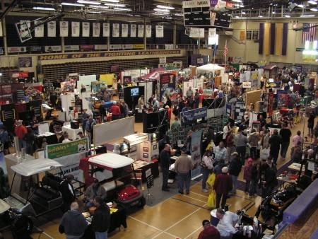Another view of the main floor during the Ag-Mech Show