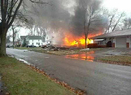 House explosion in Bushnell
