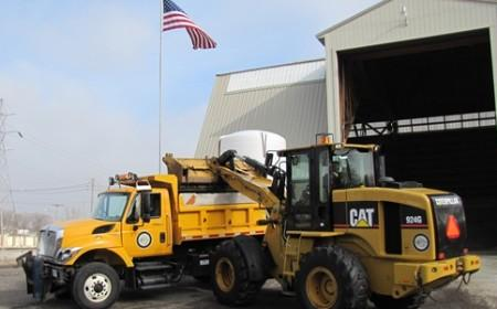 CAT equipment at a City of Galesburg facility