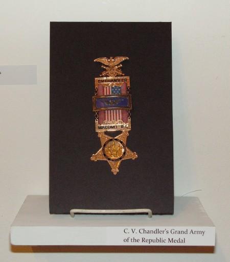 C.V. Chandler's GAR medal