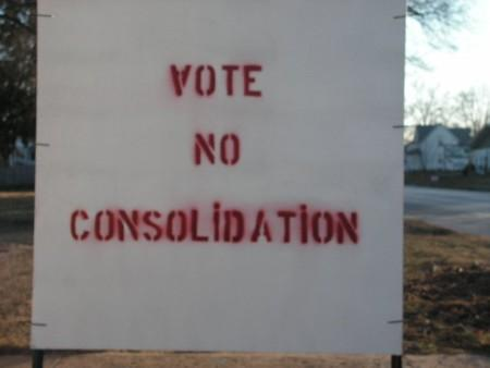 Sign in Bushnell in opposition to three district consolidation