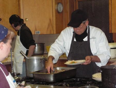 Chef Steve Henderson prepares a plate