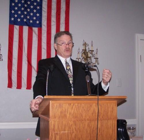 Keokuk Mayor Tom Marion delivers the 2012 State of the City address at the Keokuk Country Club on Thursday, Feb. 16.