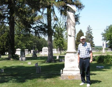 John Hallwas in Oakwood Cemetery