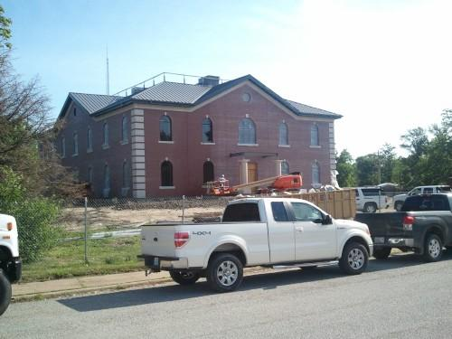 Construction continues on the new Clark County (MO) Courthouse.