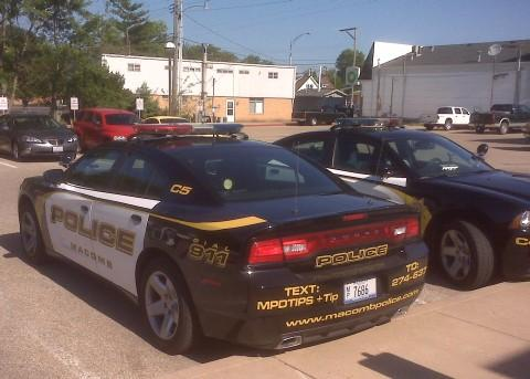 Another view of a Macomb squad car