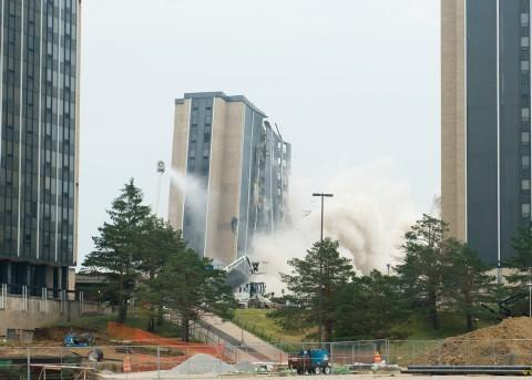Weztel Hall implodes
