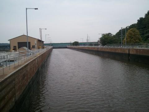 A view from inside Lock 19.