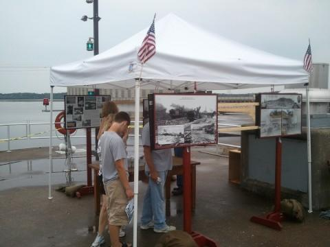 Information booths lined the route to the plant so people could learn about the history of the power plant.