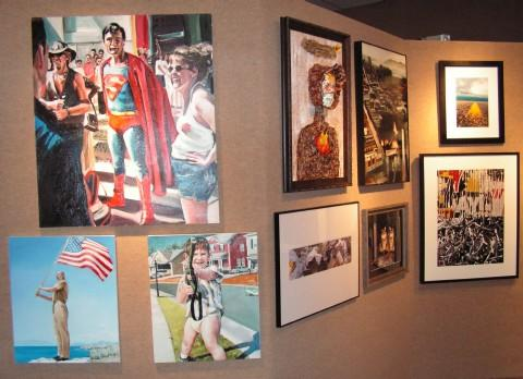 A few of the pieces in the 64 Arts exhibit for 2012