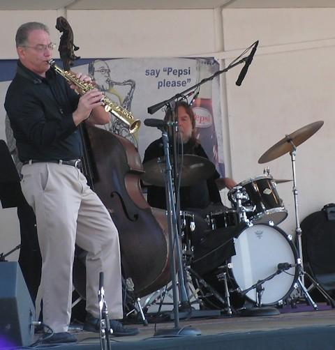The Ann Collins Trio featured saxophonist Keith DiSantis during the 2012 Al Sears Jazz Festival