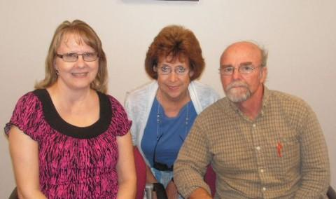 Kim Lampitt, Paula Rhodes and Dan Yoder (L-R)
