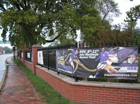 Banners on the Chandler Park fence