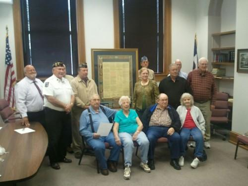 The donors responsible for bringing a copy of the U.S. Constitution to the south Lee County Courthouse.