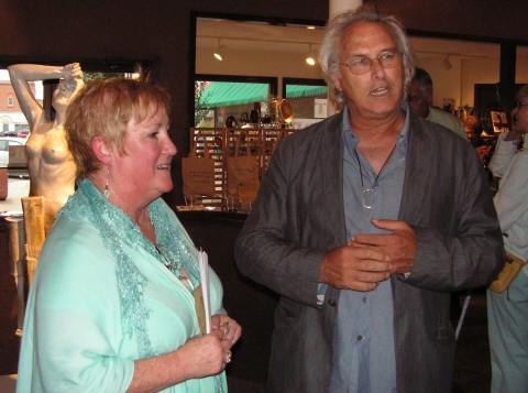 Buchanan Center Director Susan Twomey and 64 Arts Juror Eric Fischl