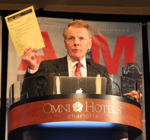 Michael Madigan speaking at the Democratic National Convention