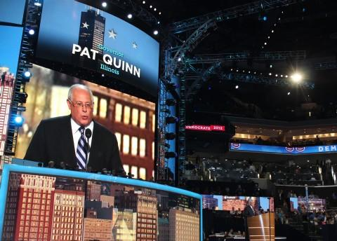 Illinois Governor Pat Quinn speaking at the Democratic National Convention