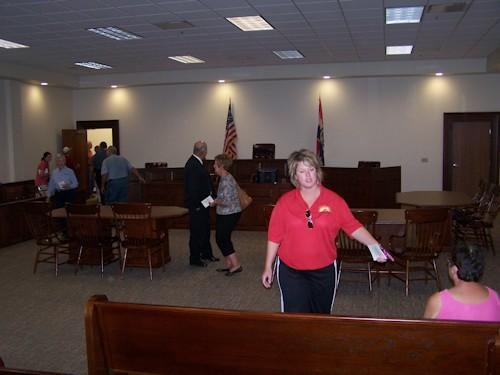 The main courtroom on the 2nd floor