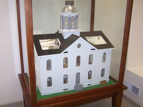 One of the exhibits commemorating the former Clark County Courthouse
