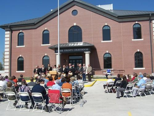 More than 500 turned out for the Clark County Courthouse dedication