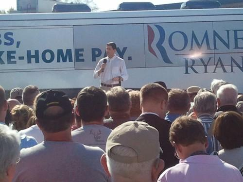 Rep. Paul Ryan campaigns in Burlington, IA on Tuesday.
