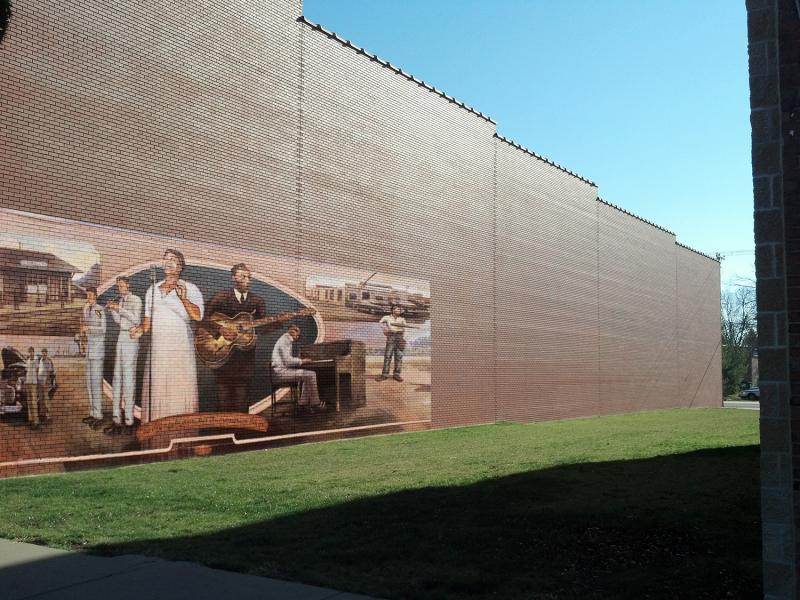 Artist concept of a large mural added to that wall