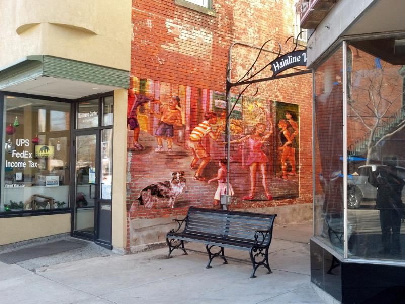 How a mural might appear in the Hainline Alley