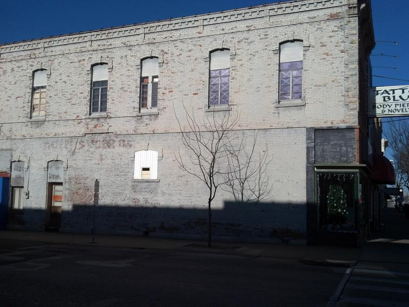 South facing wall on West Jackson St. as you leave the square