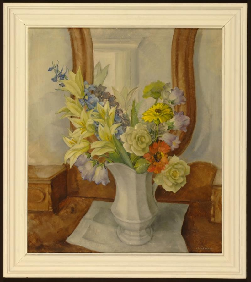 Kathleen Buehr Granger  Pale Roses (Still Life with Flowers), 1936  - Conservation Costs $3,365.00