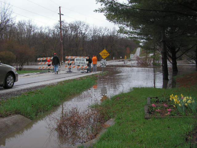 The View from Wigwam Hallow Road which was flooded by the Lamoine River
