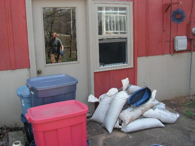 The Lamoine River would have flooded the next level of their house too without the city's help sandbagging.