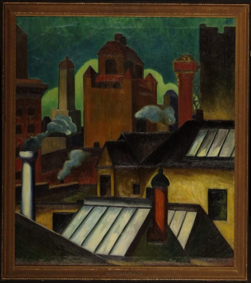 Romolo Roberti  Roofs (Tree Studios), 1934  - Conservation Costs $4,265.00