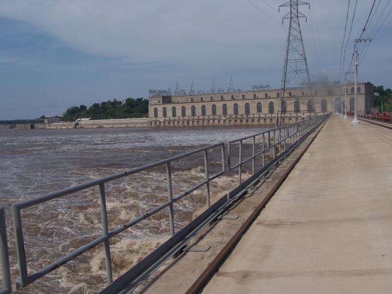 Water is released to control river elevation